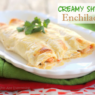 Creamy Shrimp Enchiladas