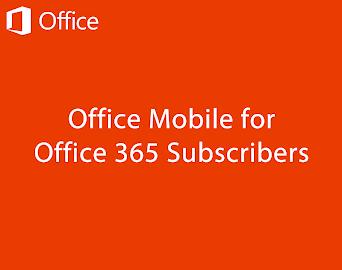 Microsoft Office Mobile Screenshot 1