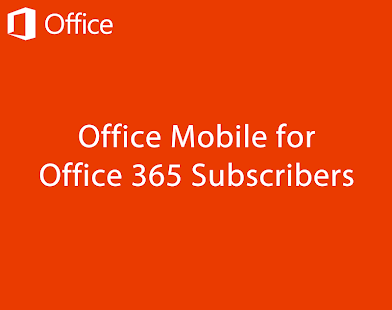 Office Mobile for Office 365 - screenshot thumbnail
