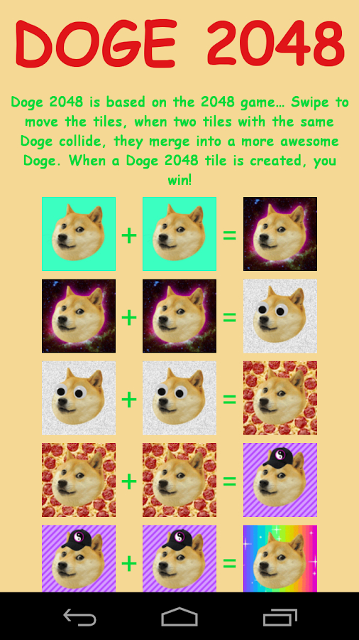 Doge 2048 - screenshot