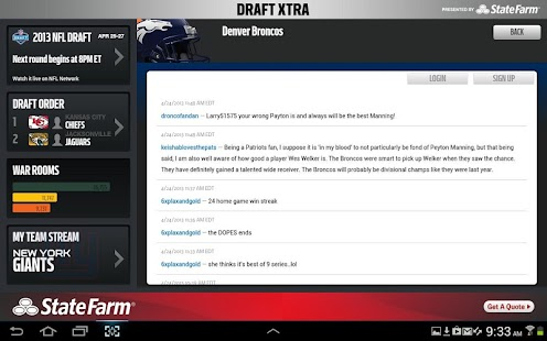 NFL Draft Xtra - screenshot thumbnail