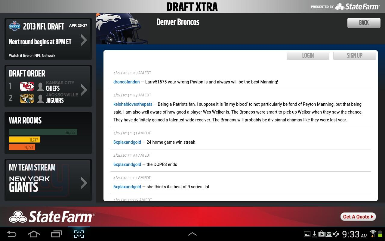 NFL Draft Xtra - screenshot