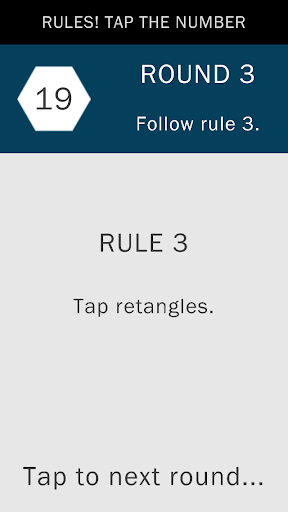 Rules Tap the numbers