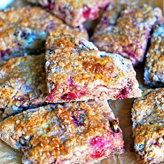 Cranberry Cherry Pecan Buttermilk Scones