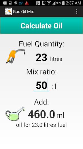 【免費工具App】Gas Oil Mix Calculator-APP點子