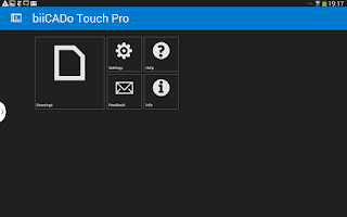 Screenshot of biiCADo Touch Pro for mobiles