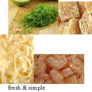 Fresh and Zesty ginger shrimp pizza.