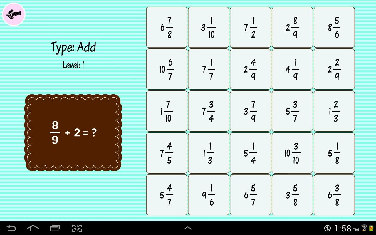 Fraction Bingo (Lite) - Android Apps on Google Play