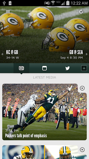 Official Green Bay Packers screenshot