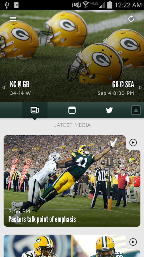 Official Green Bay Packers- screenshot