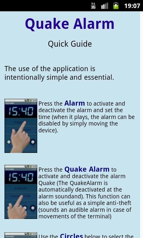 Quake Alarm Easy free- screenshot