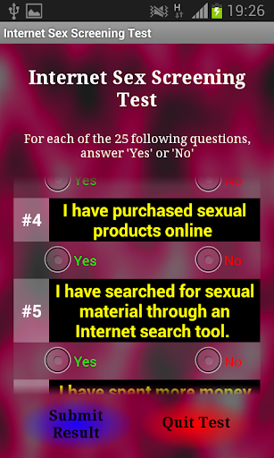Internet test of sexual compatibility