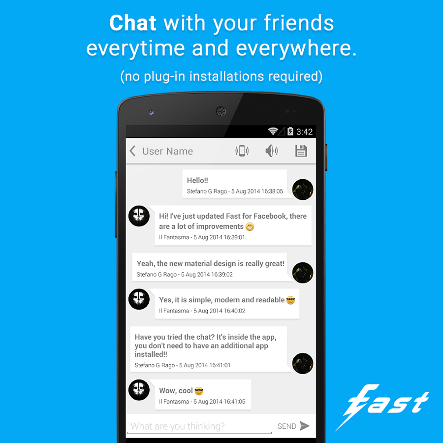Fast (client for Facebook ©) - screenshot