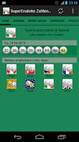 Screenshot of SuperEnalotto Nos & Statistics
