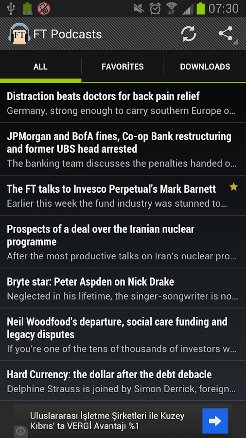 Financial Times Podcast - screenshot