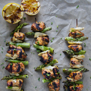 Moroccan Lemon Herb Chicken Skewers