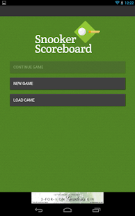 Snooker Scoreboard- screenshot thumbnail