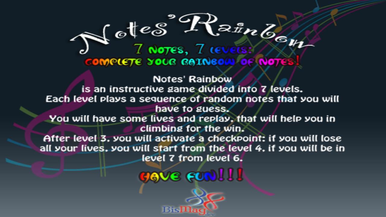 Notes' Rainbow Free - screenshot