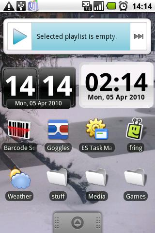 DigiClock Widget- screenshot
