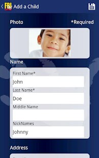 FBI Child ID - screenshot thumbnail