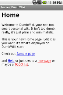 DumbWiki - screenshot thumbnail