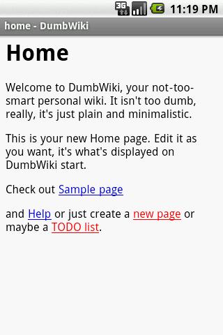 DumbWiki - screenshot