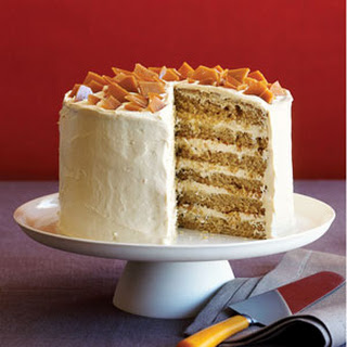 Spice Cake with Coffee Toffee Crunch.