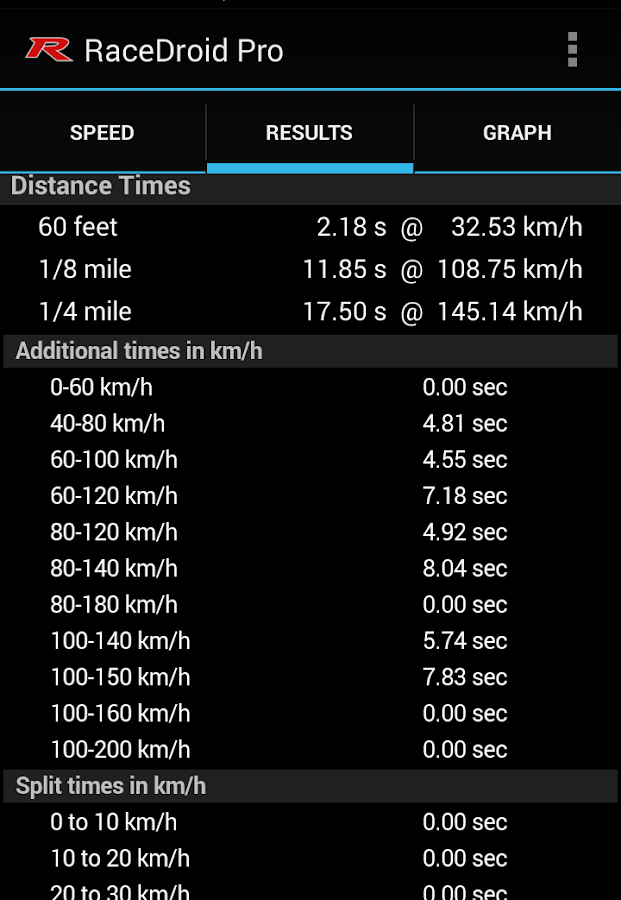 RaceDroid Pro GPS Dyno - screenshot