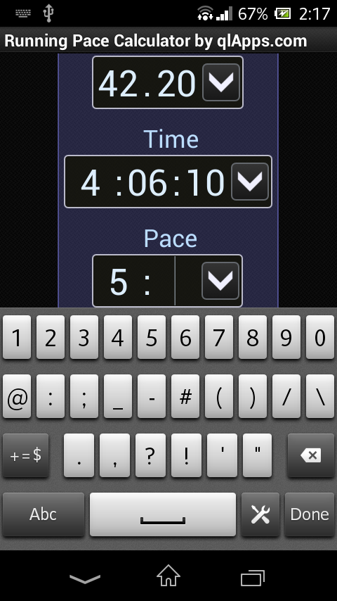 Running Pace Calculator - Android Apps on Google Play