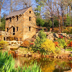 The Old Mill in North Little Rock, AR by Jay Stout - Buildings & Architecture Public & Historical