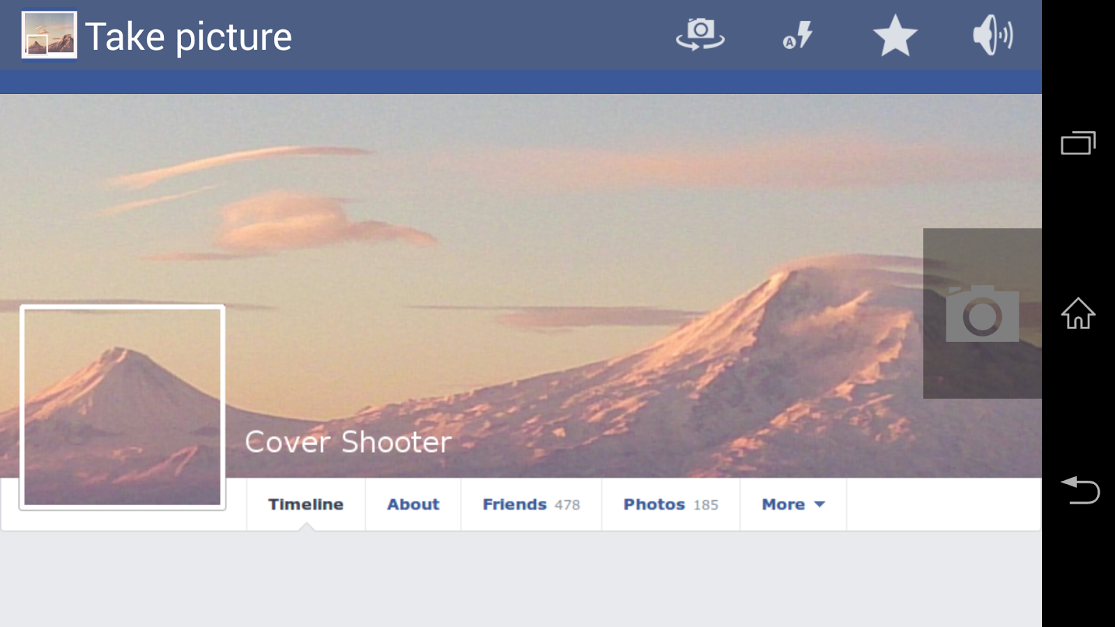 Cover Camera for FB- screenshot
