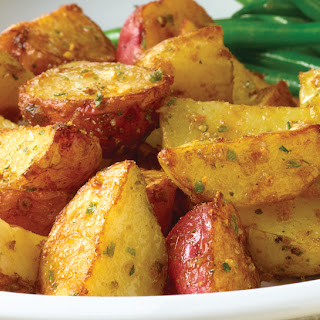 Toasted Onion and Garlic Potatoes.