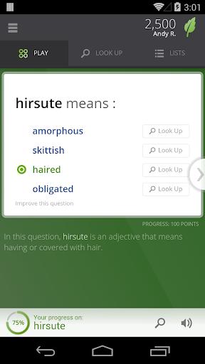 Screenshot for Vocabulary.com in Hong Kong Play Store