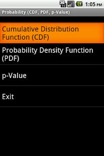 Mobile Statistics Professor- screenshot thumbnail