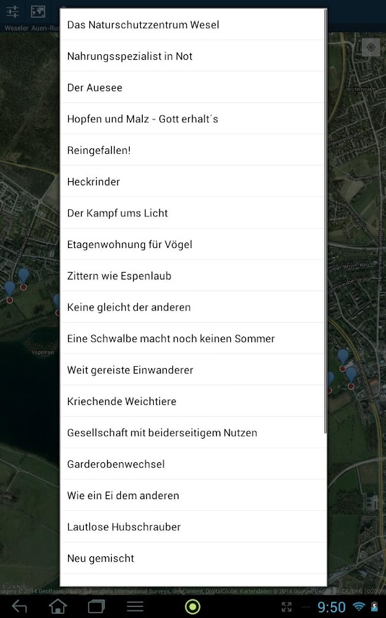 AppNatur- screenshot
