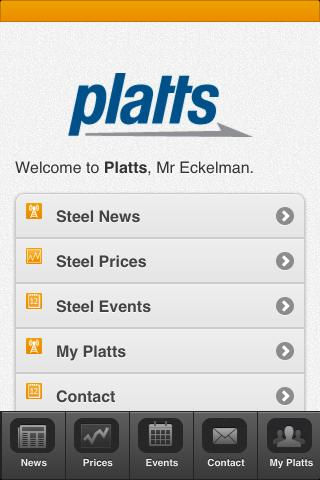 Platts Steel