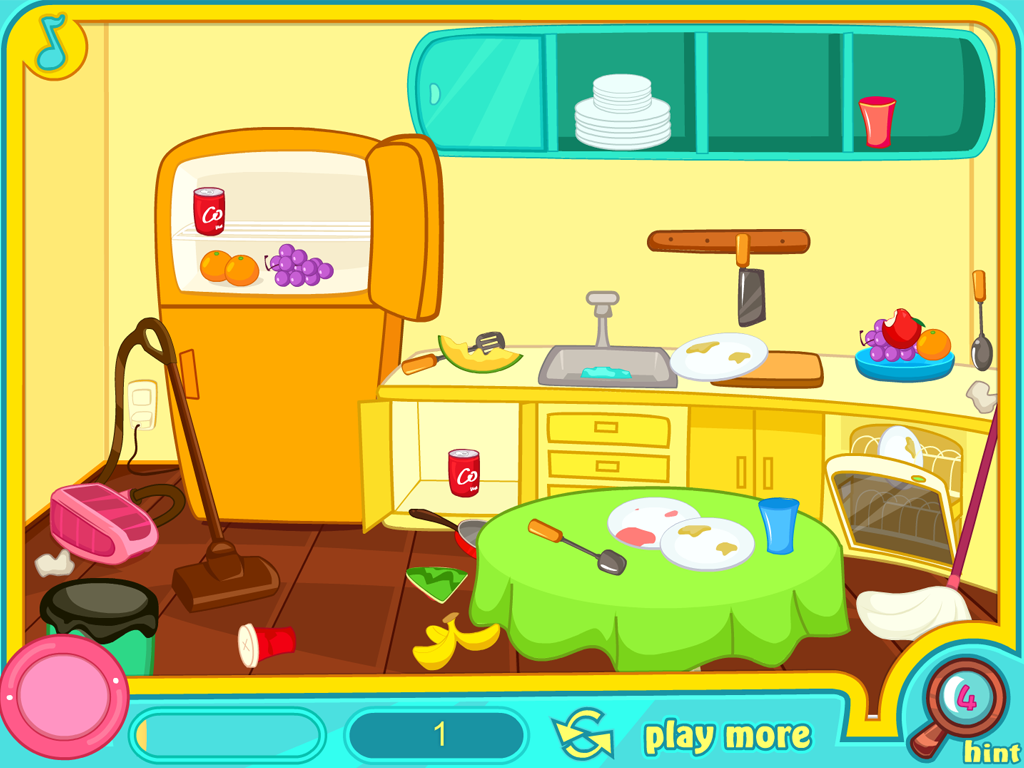 the clean up my messy kitchen game is a fun and fast paced clean up ...