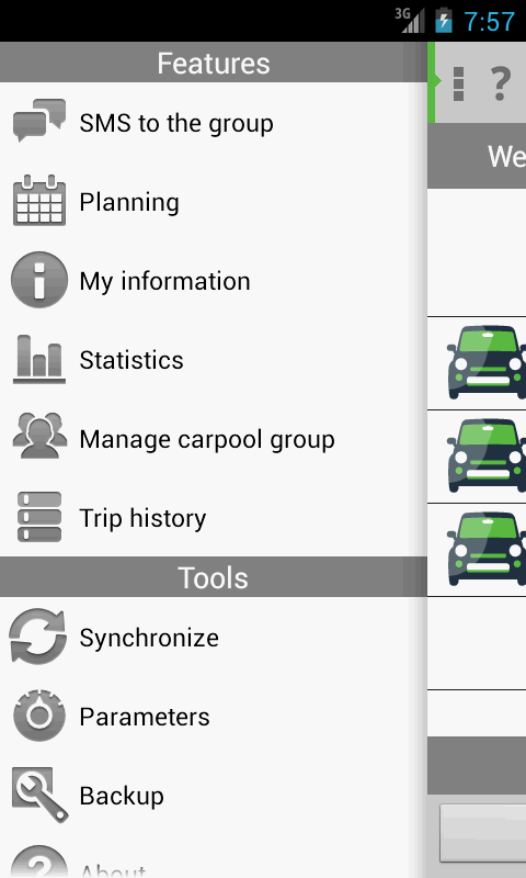 myCarpool - screenshot