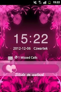 GO Locker Theme Pink Flowers- screenshot thumbnail