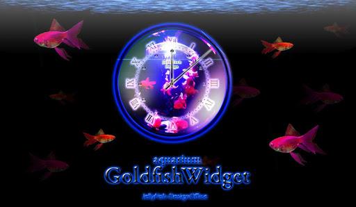 金魚のアナログ時計ウィジェット1