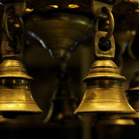 For whom the bell tolls... by Anoop Namboothiri - Artistic Objects Antiques ( temple, bell, old, anoop namboothiri, traditional, brass, antique, , Hope, Lighting, moods, mood lighting )