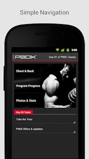 P90X Fitness app screenshot for Android