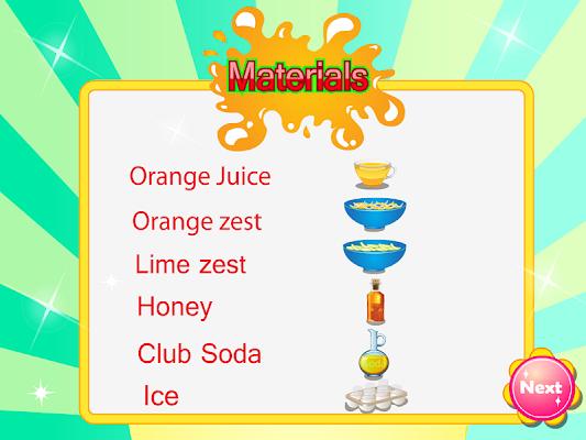 Orange soda games for girls - screenshot