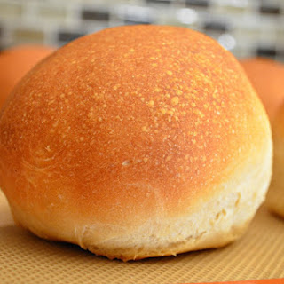Homemade Crusty Hamburger Buns.
