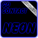 Blue neon GO Contact theme icon