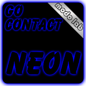 Blue neon GO Contact theme