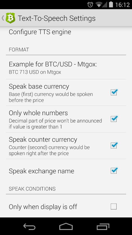 Bitcoin Checker – zrzut ekranu