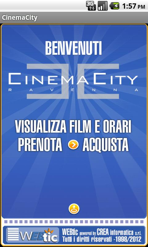 Webtic CinemaCity Ravenna- screenshot