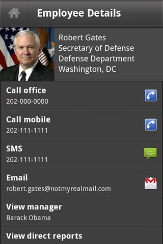 Employee Directory - screenshot