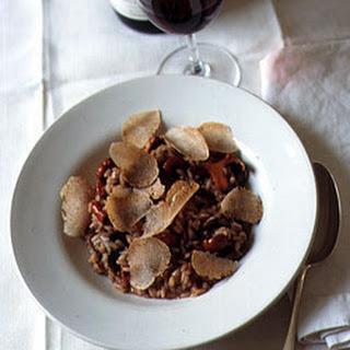 Wild Mushroom Risotto with White Truffles.